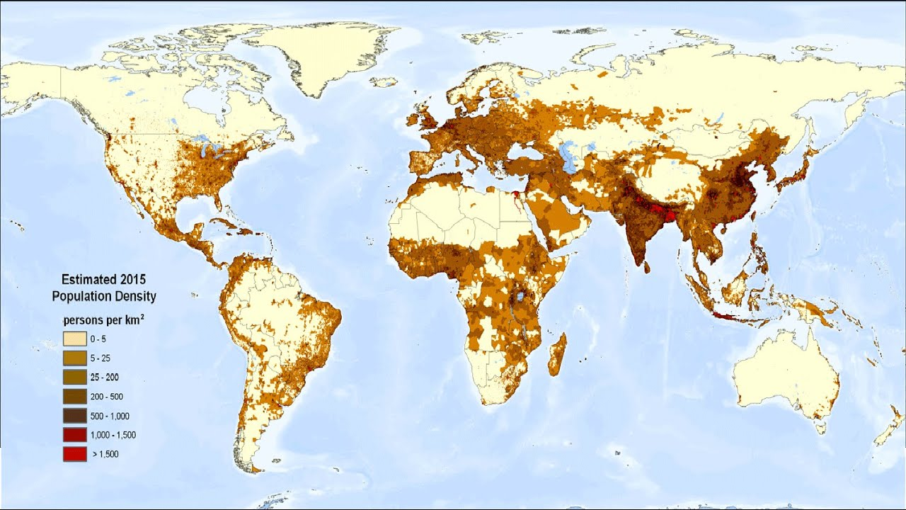 Population Density of the World