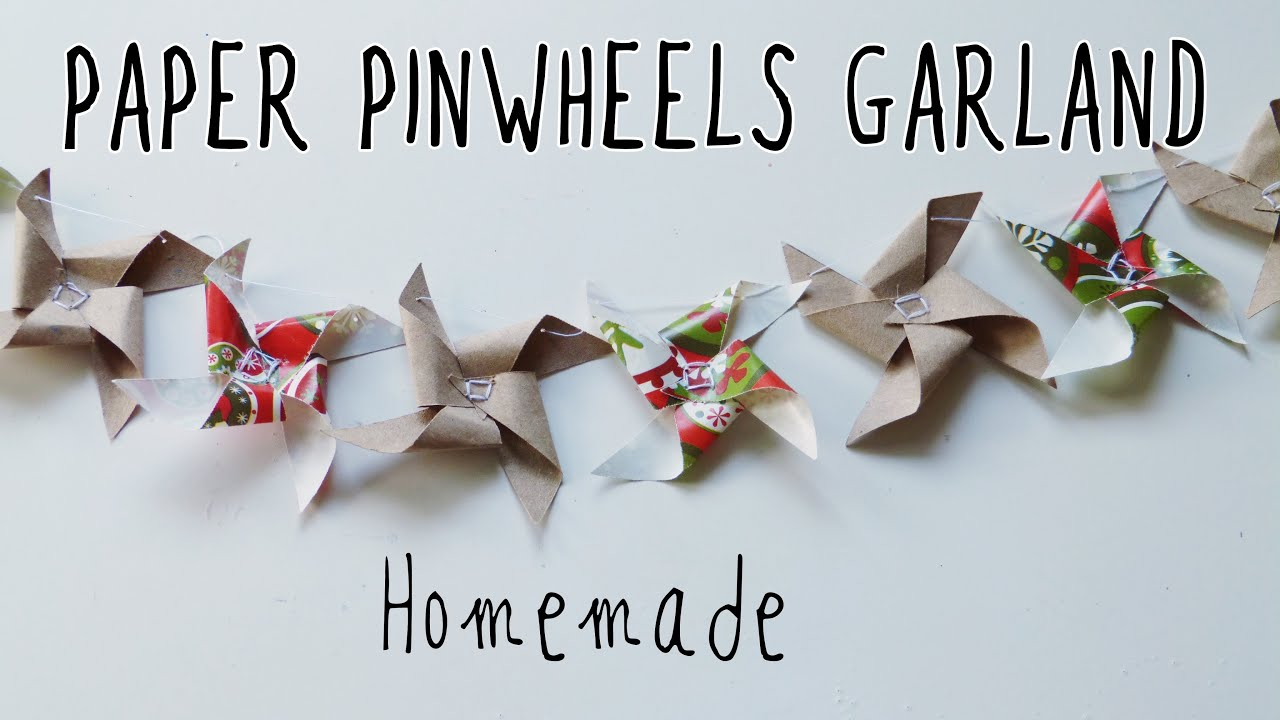 Paper Pinwheels Garland Easy Crafts To Make At Home