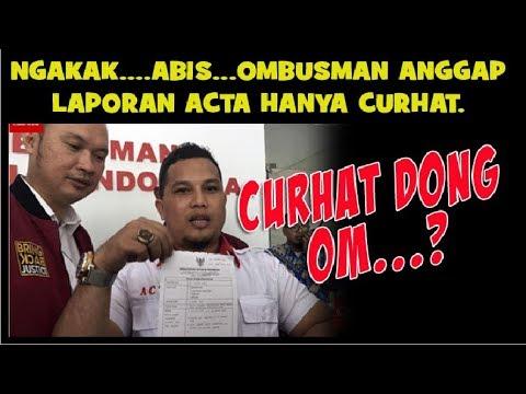 NGAKAK....Ombudsman ANGGAP  laporan ACTA  soal pertemuan PSI Presiden Jokowi hanya CURHAT