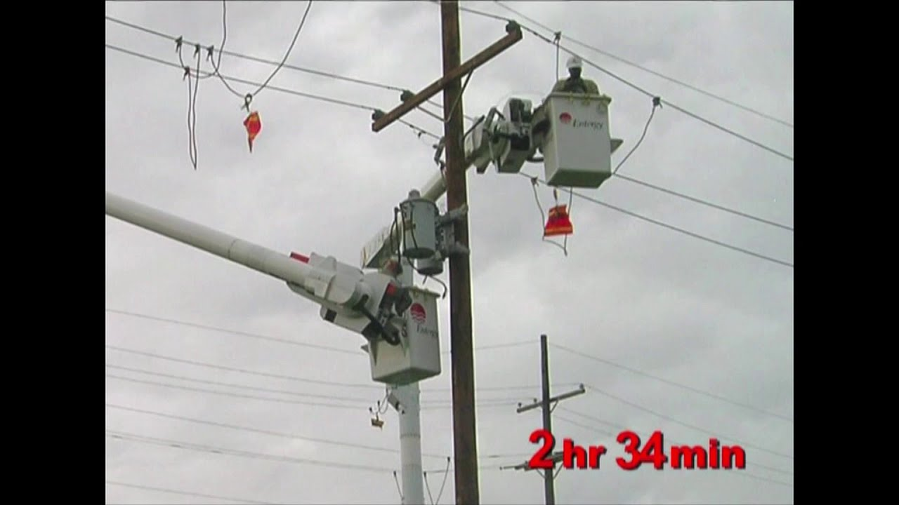 How long does it take to replace a utility pole?