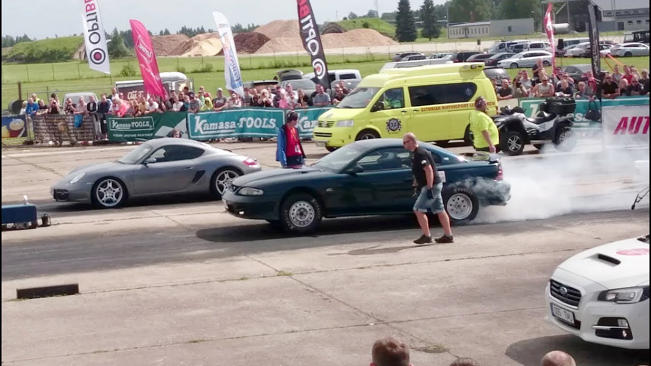 95 Ford Mustang Svt Vs Porsche Cayman S 14 Mile Drag Race