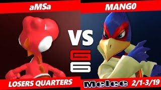 Genesis 6 SSBM - VGBC | aMSa (Yoshi) Vs. C9 | Mango (Falco) Smash Melee Tournament LQ