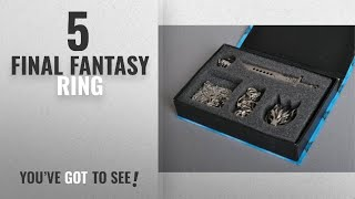 Top 10 Final Fantasy Ring [2018]: 5 Pcs Final Fantasy VII Claude Sword and Wolf Nelace & Ring &