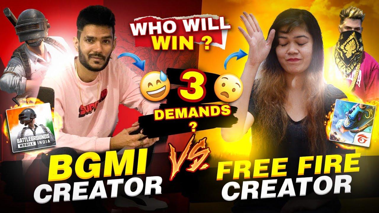 Free Fire Creator Vs BGMI Creator Who Will Win? || Bindass Laila #vlog6