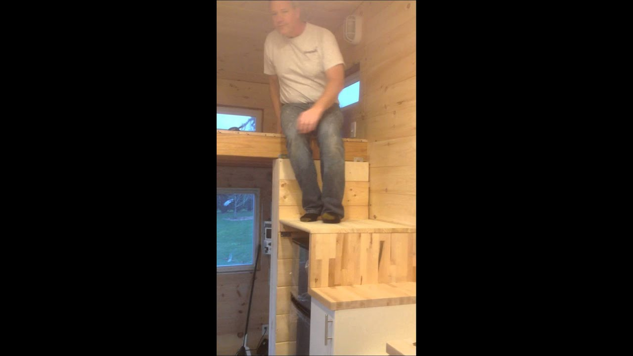 Tiny House Stairs Integrated Into Kitchen - Youtube