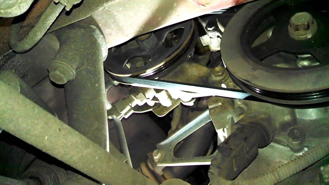 medium resolution of belt replacement 2000 toyota echo power steering alternator air conditioning install remove