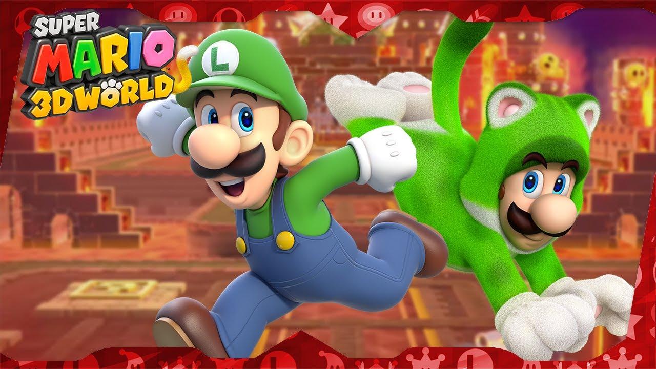 Super Mario 3D World ᴴᴰ | World Castle (All Green Stars & Stamps) Solo Luigi