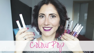 COLOURPOP:  swatches y review