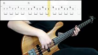 Iron Maiden - The Number Of The Beast (Bass Cover) (Play Along Tabs In Video)