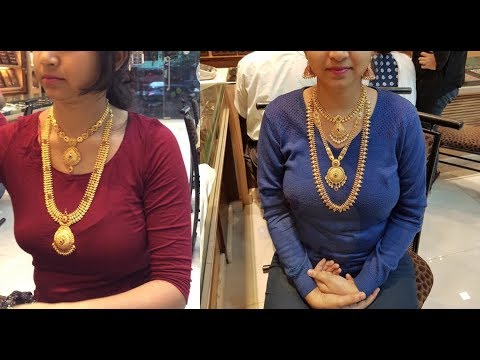 Joy Alukkas Gold Long Haram Designs Showroom Collections 2019
