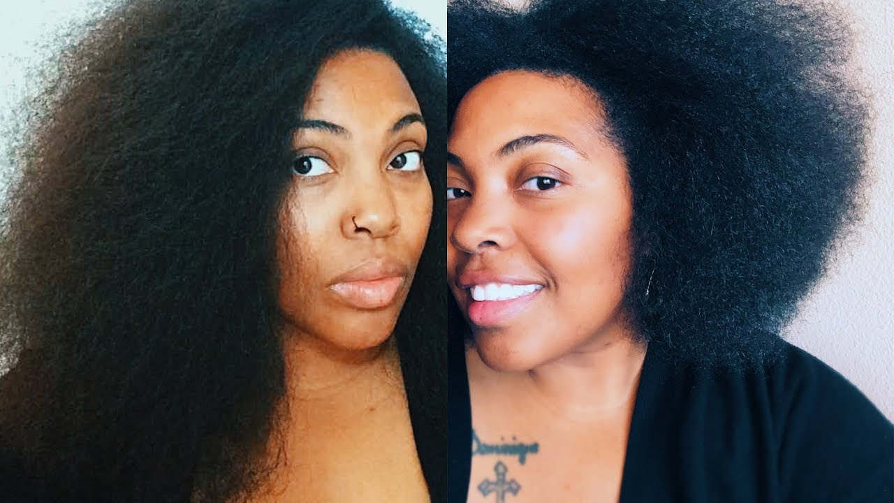 I Cut 5 Inches Off My Natural Hair Deva Cut And Blow Out Shaping