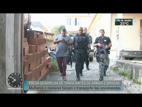 Operação contra o tráfico de drogas no Rio prende 14 pessoas | SBT Brasil (15/05/18)