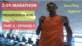 Chasing 3:05 Boston marathon qualifying time / Progression run