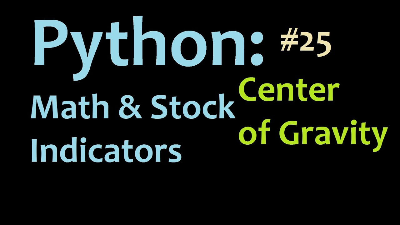 Python Center Of Gravity Stock Indicator 1 Youtube