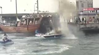 Boat Blew Up In Puerto Colon Harbour, Tenerife - 6th Feb 2010