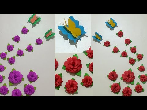 DIY Decoration Idea// Easy Wall Decorating Idea//Simple Home Deceration With paper