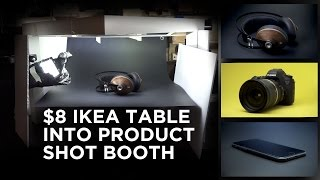 $8 Ikea Table Into Product Shot Booth For Videos and Photos