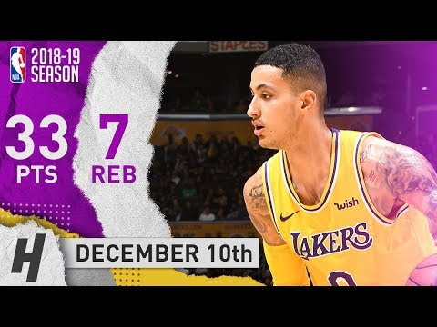 Kyle Kuzma sophomore year 33pts vs Miami Heat highlights