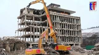 HITACHI ZAXIS 670 High Reach Demolition / Abbruch Esslingen, 10.01.2017.