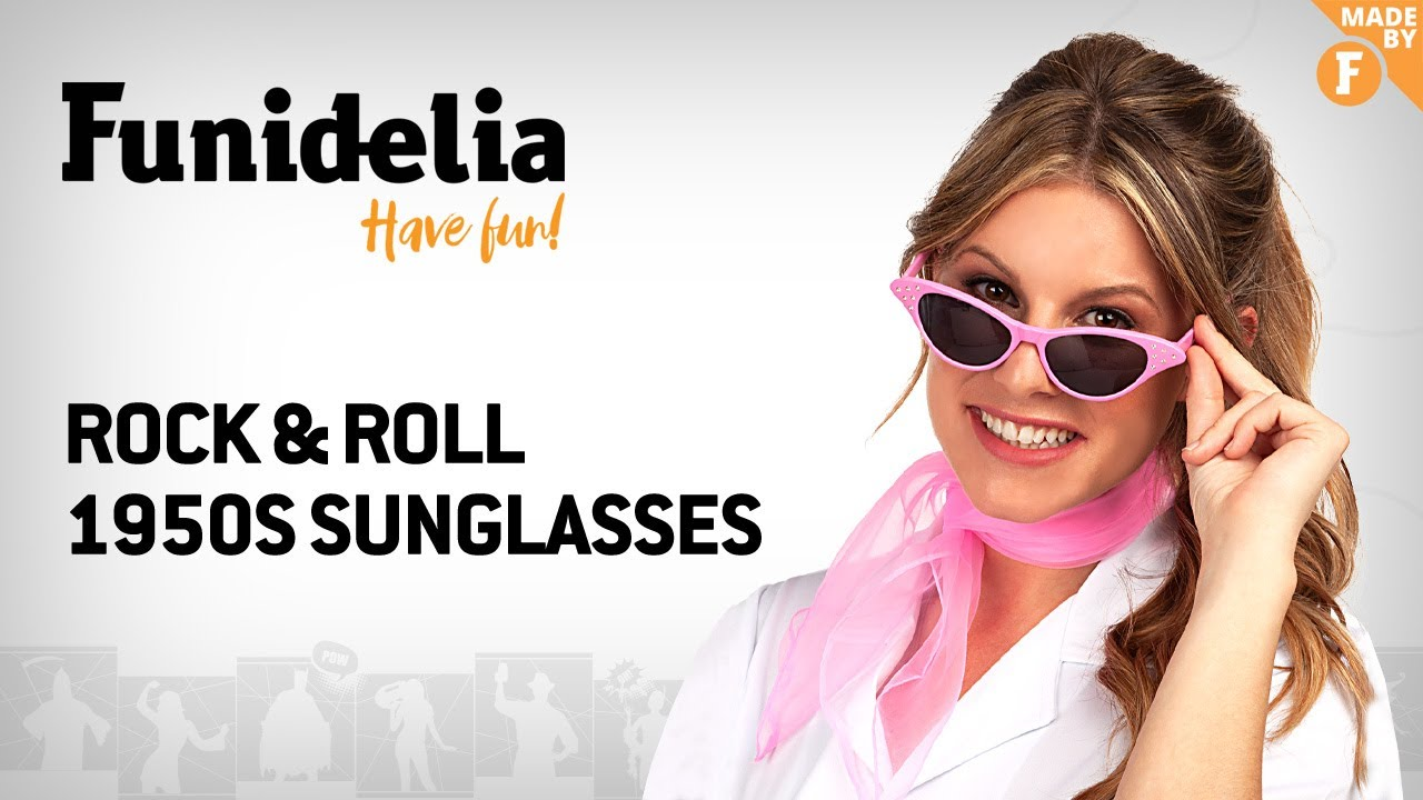Funidelia 1950s rock & roll sunglasses - madefunidelia