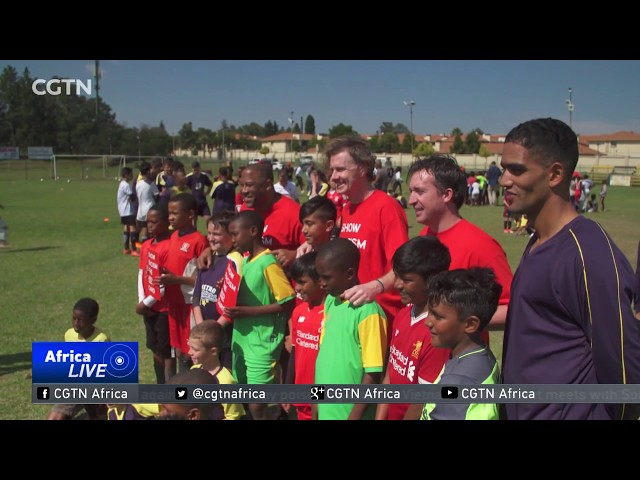 Former Liverpool stars in South Africa for Human Rights Day