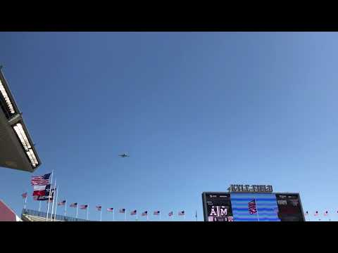 That's All Brother flyover Texas A&M Spring Football Game