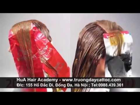 Dạy kỹ thuật nhuộm tóc 3D, kỹ thuật pha chế thuốc nhuôm màu 3D tiêu chuẩn