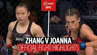 Best women's MMA fight ever? Weili Zhang vs Joanna Jedrzejczyk | UFC 248 official fight highlights