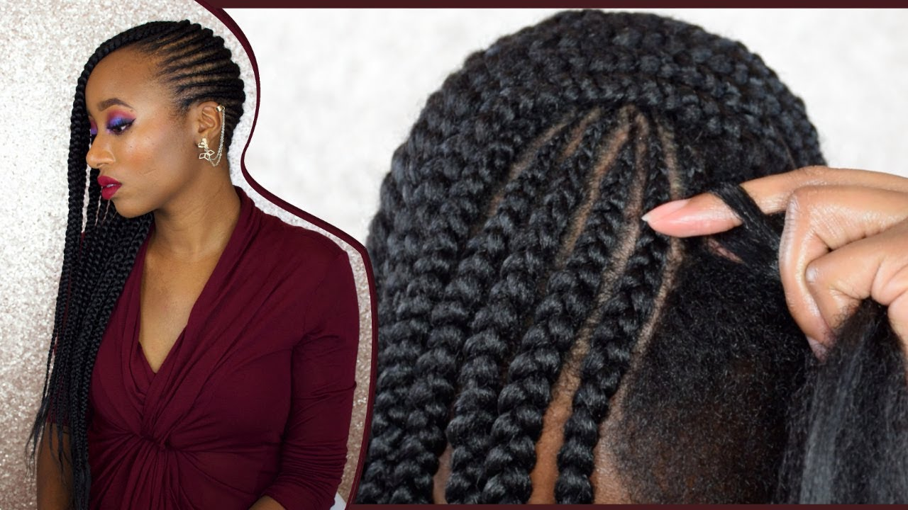 4c Hairstyles Braids: How To DIY Feed In Braids On 4c Natural Hair