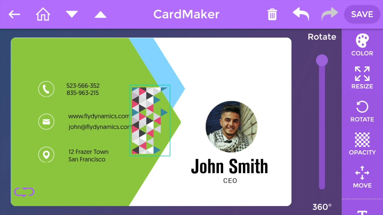 Business Card Maker App How To Edit Business Card Template Youtube
