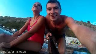 На берегу Анапы