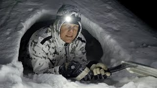 Cold Night in a Snow Shelter