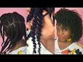 PART 1: STYLE YOUR 4C HAIR WITH JUST SHEA BUTTER!! (Flat twist out on 4c hair)