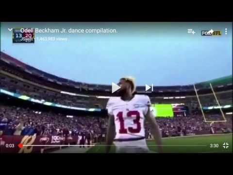 Odell Beckham junior dance completion
