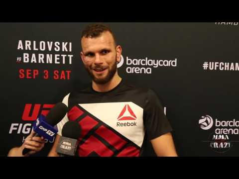 Jessin Ayari UFC Fight Night Hamburg Post Fight Media Scrum