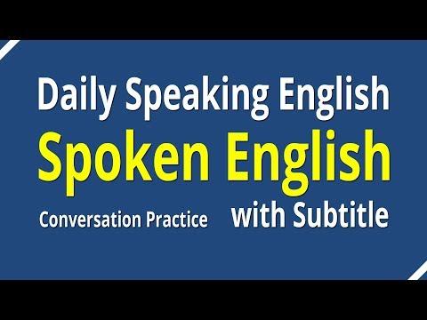 Spoken English Conversation With Subtitle - Daily Speaking English Conversation Practice