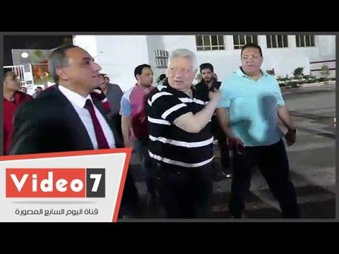 مرتضي منصور يستقبل مجلس نقابة الصحفيين في الزمالك  - 01:21-2017 / 5 / 21