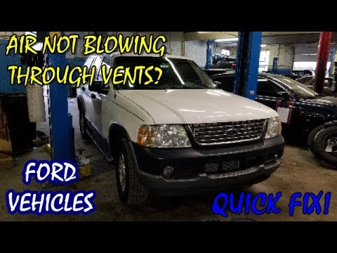 Air Won't Blow Through Vents 2002-2005 Ford Explorer