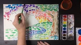 Elementary Art Project - Impressionist Landscape