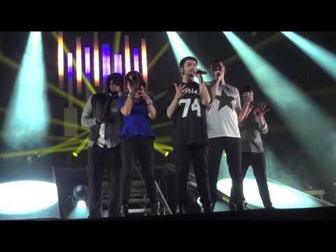 Pentatonix -- Lorde Team (intro) and Royals - Orpheum Los Angeles 3-2-2014