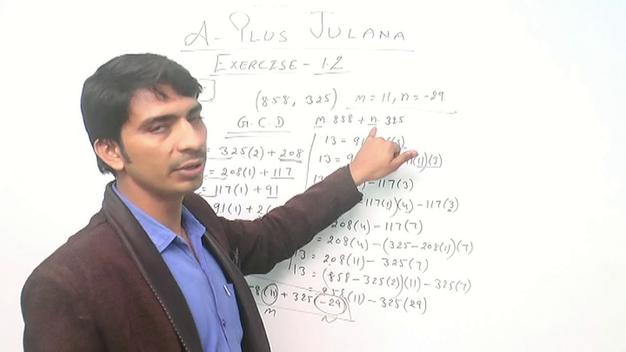 Greatest Common Divisor GCD BY Euclidian Algorithm Number Theory &  Trigonometry Ex  1 2 B A B SC