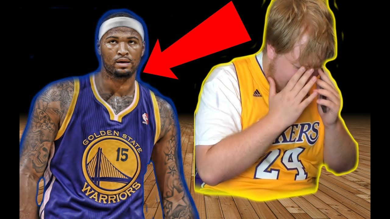 size 40 67a0c e5d94 Lakers Fan Reacts To Demarcus Boogie Cousins Going To The Warriors