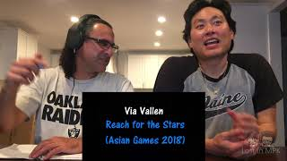 Reaction VIA VALLEN Meraih Bintang Official Theme Song Asian Games 2018