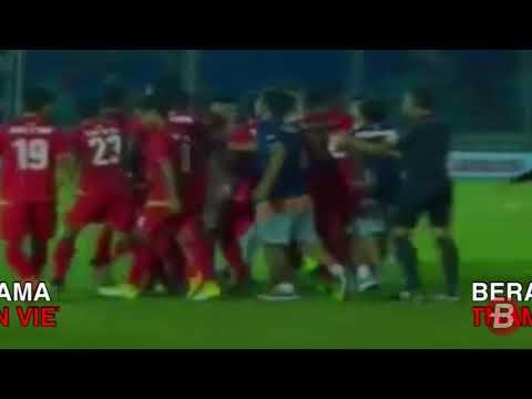 Keributan Myanmar vs Vietnam di Babak Pertama Piala AFF U 18 2017