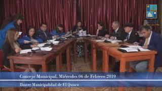 Concejo Municipal Miércoles 06 Febrero 2019 - El Quisco