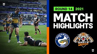 Eels v Wests Tigers Match Highlights   Round 14, 2021   Telstra Premiership   NRL