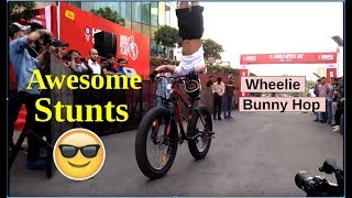 Awesome Stunts on World Bicycle Day 2018 | Cyclerider Roy | Cycling Vlog | Fat Bike Stunts