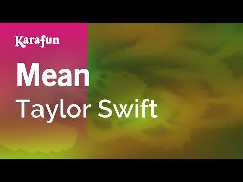 Karaoke Mean - Taylor Swift *