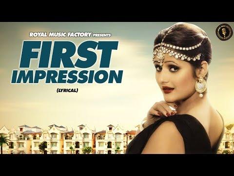 First Impression ( Lyrical ) | Bhaskar Bohariya, Anjali Raghav | New Haryanvi Songs Haryanavi 2019