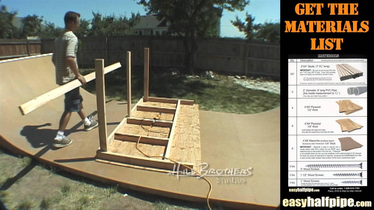 How To Build A Halfpipe In Your Backyard Outdoor Goods
